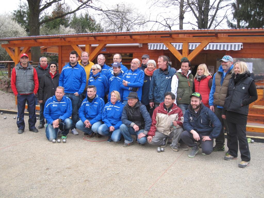 1.Mannschaft mit Gästen